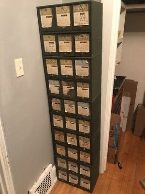 Metal Pharmacy/Medicine Chest Cabinet 6 Door Vintage File Cabinets