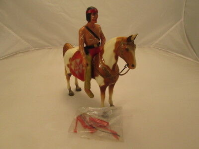 1954-57 Vtg Breyer Tobiano Pinto Pony w/Native Rider -Accessories New in Package