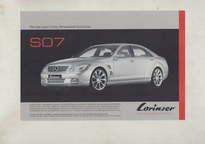 2007 Mercedes Benz Lorinser S07 S Class Large Factory Postcard wy8011
