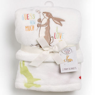 Guess How Much I Love You Set of 2 Luxury Baby Pram Blankets