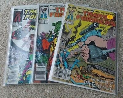 Marvel- The TRANSFORMERS Lot (3+1); #13,29,55 (Avg FN); I COMBINE!
