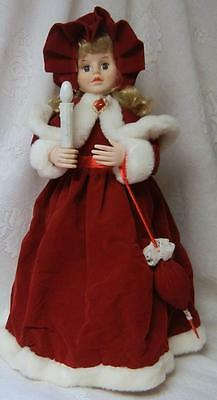Vintage Christmas Telco Motion-ettes Animated Illuminated Victorian Doll Girl