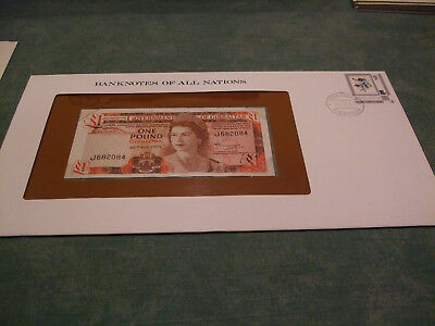 Banknotes of all Nations Gibraltar 1 Pound 1975 P.20a - Banknotenbrief