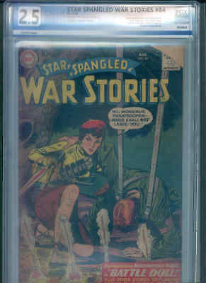 STAR SPANGLED WAR STORIES 84 PGX 2.5 ( Origin /1st App. MADEMOISELLE MARIE !)
