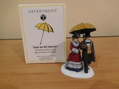Dept 56 Dickens Village - Under the NCC Umbrella (Yellow)