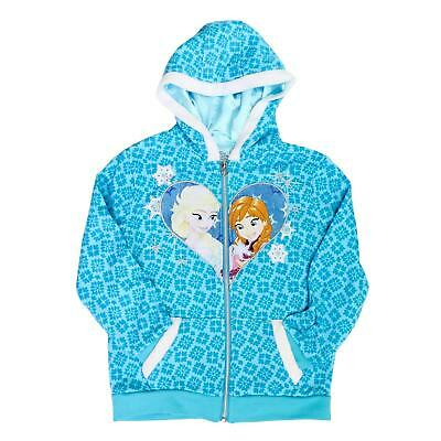 Disney Frozen Full Zip Hoodie for Girls - Hooded Sweatshirt - Elsa, Anna