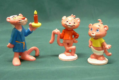RARE 1980s PINK PANTHER & SONS collectable figure set