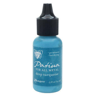 Vintaj Patina, Opaque Permanent Ink For Metal, 0.5 Ounce Bottle, Deep Turquoise