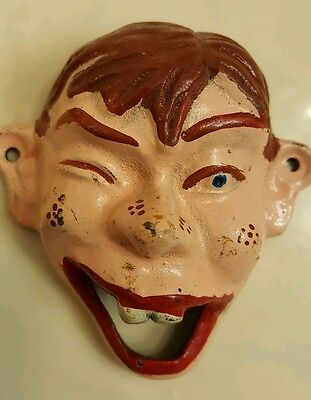 old painted cast iron Howdie Doody face bottle opener