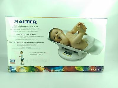 Salter Electronic LCD Baby and Toddler Scale 44lb Capacity White