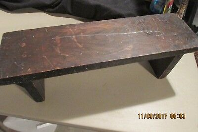 Antique Oak Plank Arts and Crafts milking stool bench