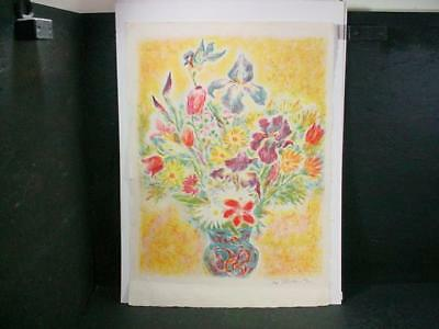 "NobleSpirit  {3970} Signed/Numbered Ira Moskowitz Artist Proof of ""Flowers 4"""