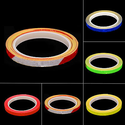 8m Motorbike Car Reflective Rim Tape Wheel Sticker Trim Motorcycle Luminous 1PC