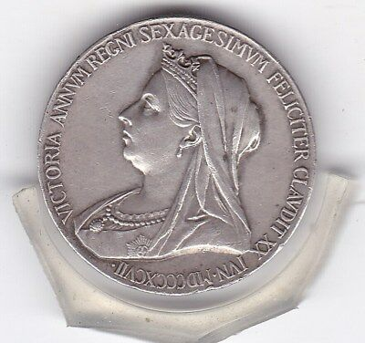 1897    Queen  Victoria  Sterling  Silver  60th Anniversary  British  Medal