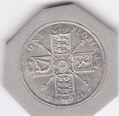 Very  Sharp  1926   King  George  V  Florin  (2/-)  Sterling Silver (50%)  Coin