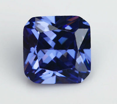 10X10mm AAAAA Blue Sapphire Gems 7.23ct Square Faceted Cut VVS Loose Gemstone