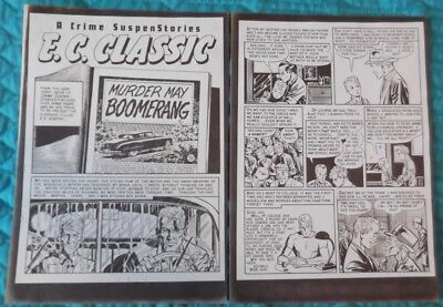 Johnny Craig Collection - EC Crime SuspenStories #19 - 8 Page Silver Print story