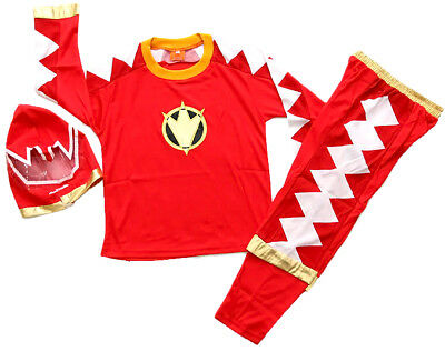 NEW Size 2-12 KIDS COSTUME POWER RANGERS BOYS DRESS UP PARTY SUPERHERO TOP TOYS