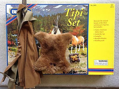Breyer Horse Traditional Accessory #2485 Tipi Set Tent Fire Camp Box RARE