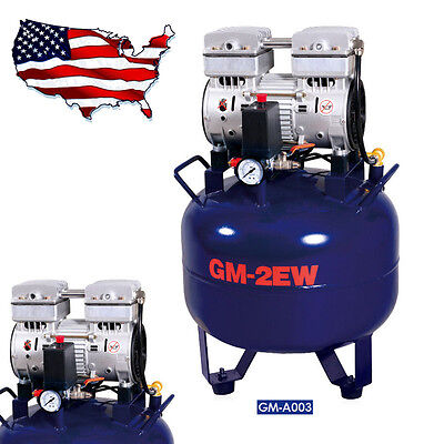 Medical Noiseless Oil Free Oilless Air Compressor 32L 850W for 2PC Dental Chair
