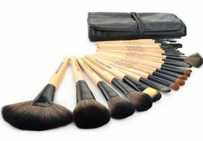Wisedeal 24pcs Professional Cosmetic Makeup Brush Set with BALCK Bag Soft Kit