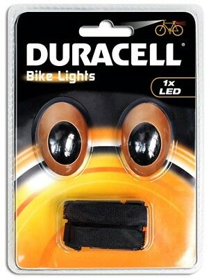 Duracell Bike Lights M01 mit 1 LED inkl. Knopfzellen