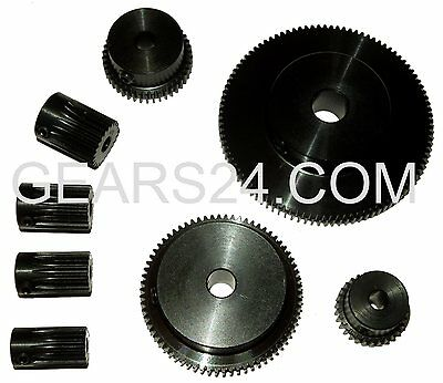Gears Module 0.8 Steel Milled 15-120 TEETH GEAR HELICAL GEAR + Thread Type SS