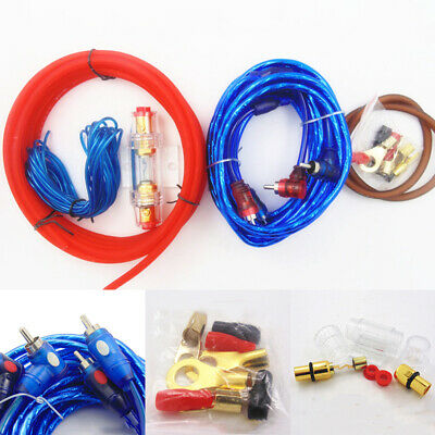 1500W Auto Car Audio Subwoofer Sub Amplifier AMP RCA Wiring Kit Cable Wire Fuse