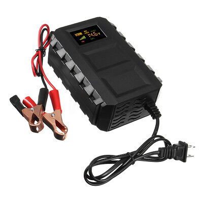 12V 10A Intelligent Smart LCD Car Motorcycle Lead Acid Battery Charger Portable