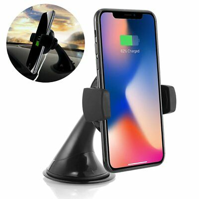 360° Qi Wireless Fast Car Charger Mount Holder Stand For Samsung Note 8 iPhone X