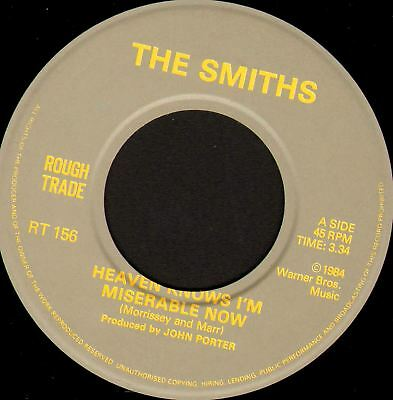"THE SMITHS (MORRISSEY) heaven knows i'm miserable now (uk 1984) 7"" WS EX/ RT156"