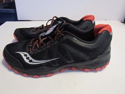 4dd22947e Mens Saucony Runanywhere Galiber Black Trainers Athletic Shoes Size 13M L947