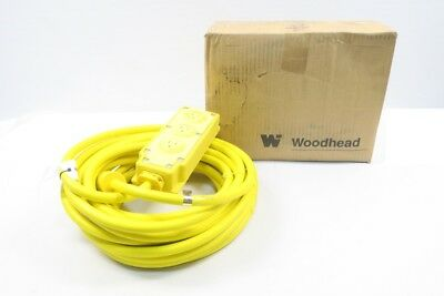 New Woodhead 31593B123 3 Outlet Rubber Box 50Ft 12-3 Sow Cord D584513