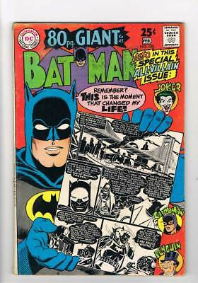 Batman # 198  Special All-Villain 80 page Giant issue !  grade 4.5 scarce book !