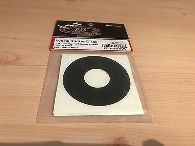 De Racing Rc Buggy Truggy 1/8 Wheel Sticker Disks ( 8 Pcs) Matte Black Borrego