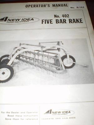 Avco New Idea No 402, Five Bar Side Rake Operator's Manual 1977