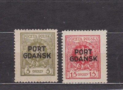 pl.office in danzig two optd, stamps,Sc 1K4,1K6          k2334