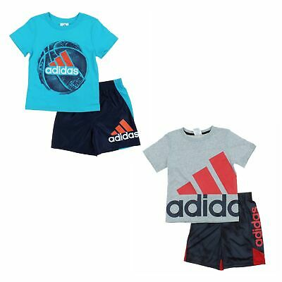 adidas 2 Piece Active Set for Boys - Short Sleeve T-Shirt, Shorts