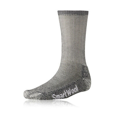 SmartWool Mens Trekking Grey Realiwool Heavy Crew Outdoors Sports Hiking Socks