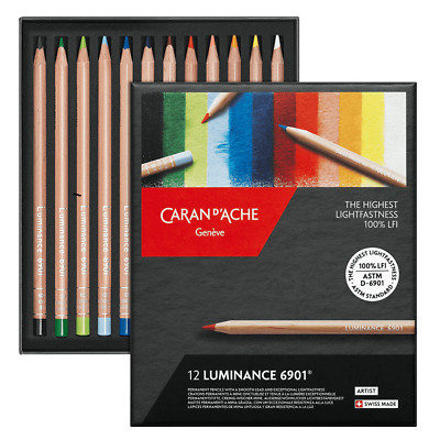Caran D'Ache Luminance Colour Pencils Artist 12 Box Set Permanent LFI 6901 712