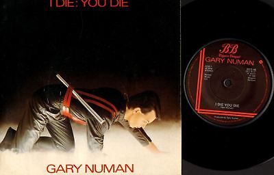 """GARY NUMAN i die: you die/down in the park (uk 1980) 7"""" PS EX/VG BEG 46 synth"""