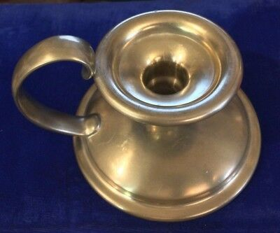 Vintage Royal Holland  Pewter Candle Holder by Royal Holland KMD Daalderop