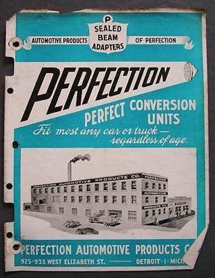 Perfection Automotive Products Sealed Beam Conversion Units 1930-39 Brochure