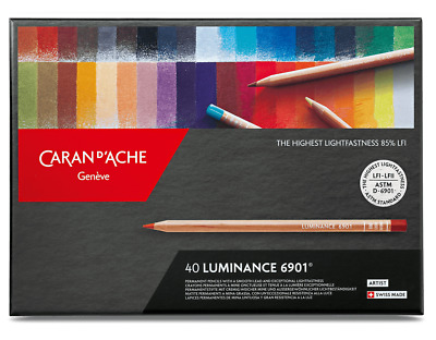 Caran D'Ache Luminance Colour Pencils Artist 40 Box Set Permanent LFI 6901 740