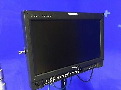 "TV Logic LVM-171WP 17"" Multi-Format Video Monitor with stand."