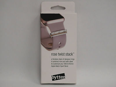 Bytten BYT-ROSETWIST-WSAW Rose Twist Stack For Apple Watch Band  NEW