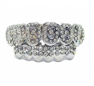 Bling Grillz Top & Bottom Discoball Hiphop Bling Bling Grillz Set