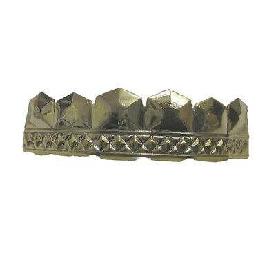 Grillzz Embossed Diamonds Top Row Hiphop bling Grillzz