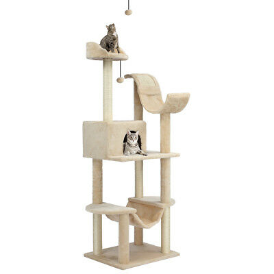 "60.5"" Arbre à chat griffoir jouet CAT TREE 5-Dangling Balls 5-Tier pour chats FR"
