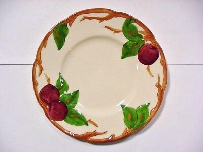 "Franciscan Pottery, ""APPLE"" Pattern, 8 B & B PLATES, Made in USA  1950's"